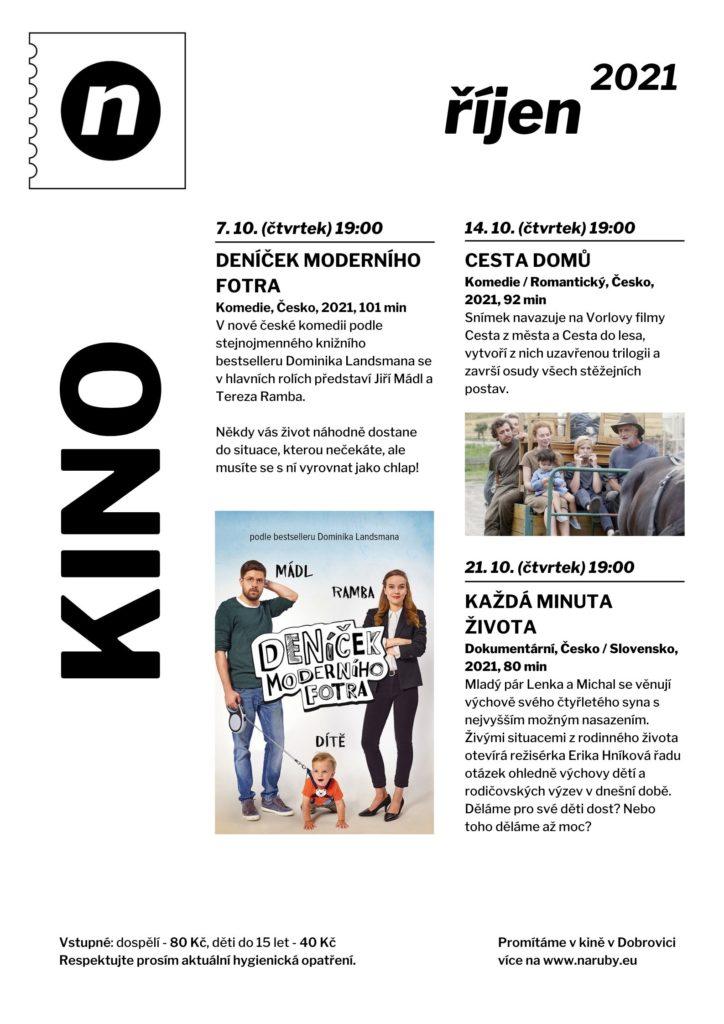 Kino Dobrovice - program říjen